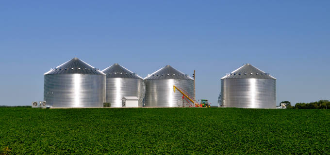 New Grain Bins For Storage
