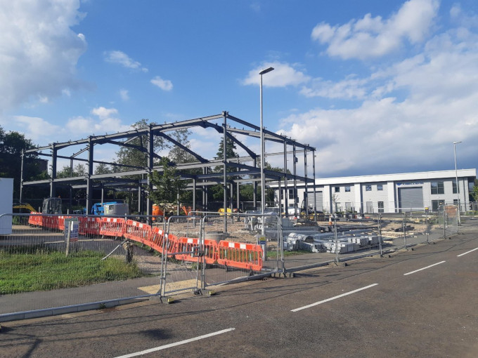 Our new building being constructed in Maresfield